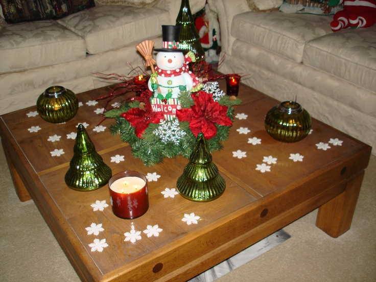 Christmas coffee table decor photograph d41a030bcb94f483a6 for Ideas for decorating coffee table for christmas