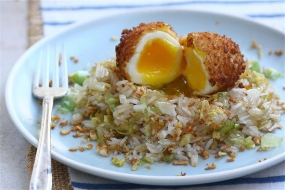Ginger fried rice 5 minute fried egg | MyCookBook | Pinterest
