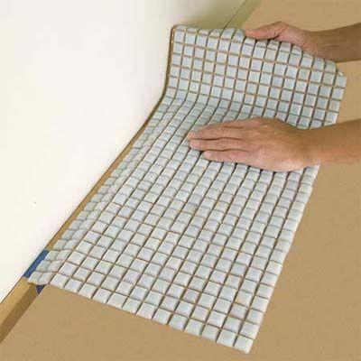 how to install a glass mosaic tile backsplash