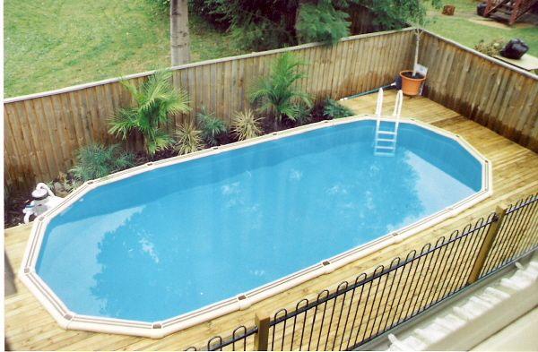 Semi Inground Pool Landscaping Ideas
