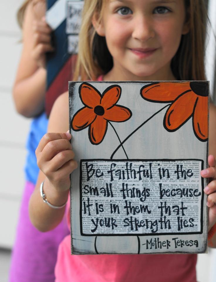 Be faithful in the small mother teresa handmade card. $14.95, via Etsy.
