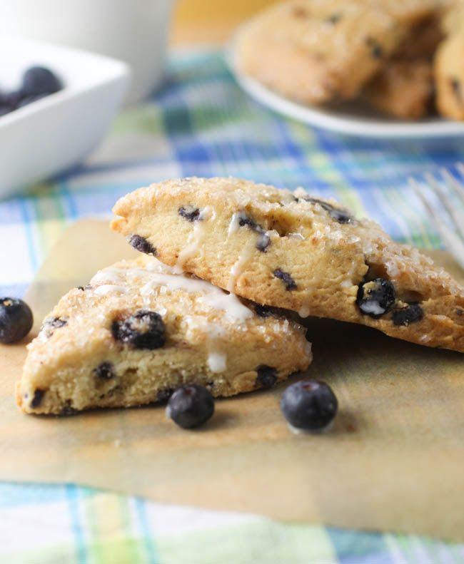 Blueberry Scones with Lemon Glaze | The Book of Noms | Pinterest