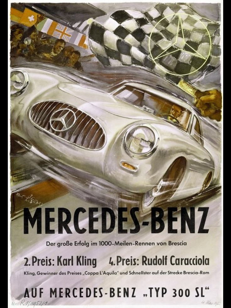 Mercedes benz posters for Vintage mercedes benz posters