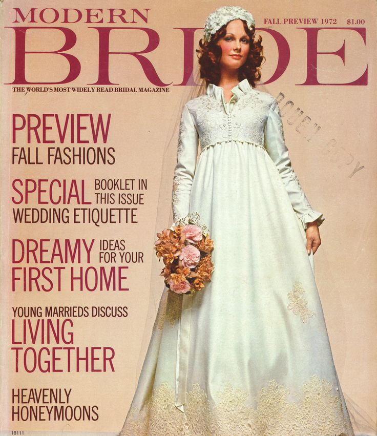 Modern bride cover 1972 vintage magazine covers pinterest