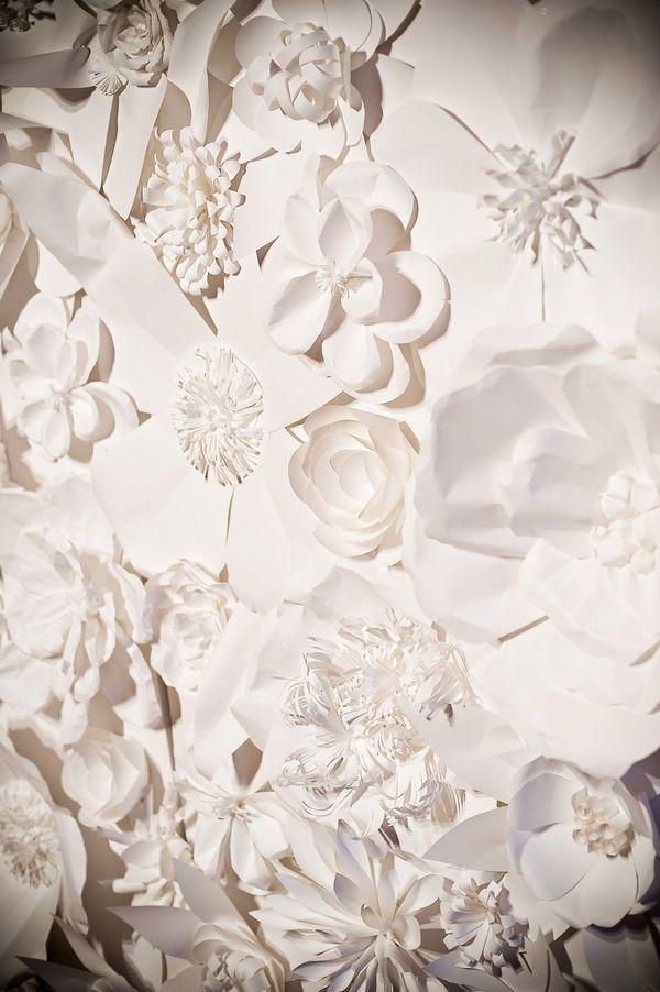 Diy Paper Flowers Wall Art : Wall decor paper flowers diy crafting