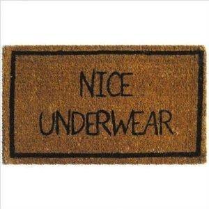 Nice Underwear Coir Door Mat