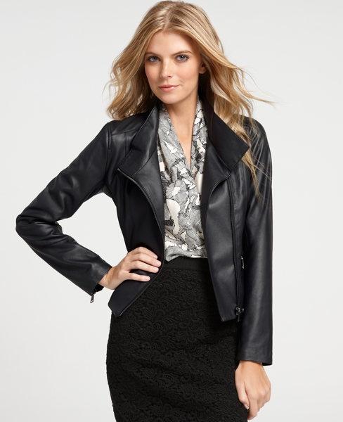 Ann Taylor Leather Moto Jacket - Polyvore