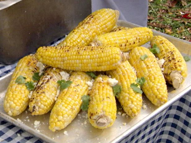 ... Corn on the Cob with Garlic Butter, Fresh Lime and Cotija Cheese