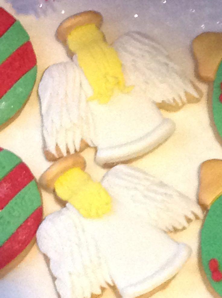 Angel sugar cookies | Christmas Cookie Swap | Pinterest