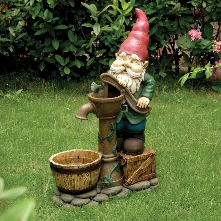 fountain gnome gnomes pinterest
