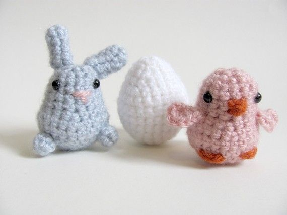 Amigurumi Baby Chick Pattern : Crochet PATTERN - Amigurumi Baby Chick, Bunny Rabbit, and ...