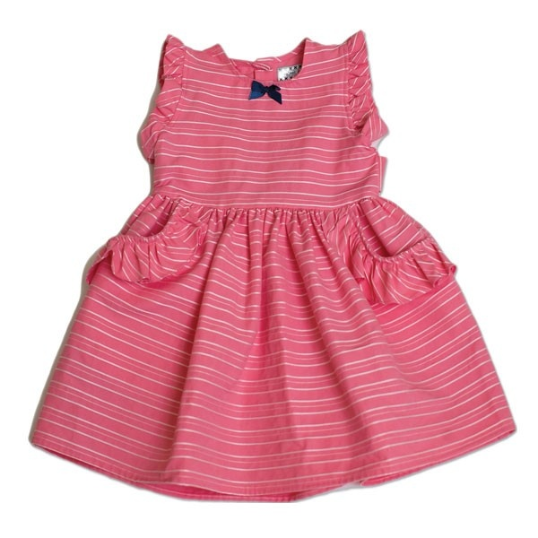 Coral stripe ruffle party dress kids clothes pinterest