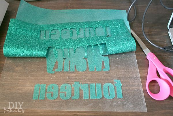 Diy Glitter Iron On Vinyl Tutorial
