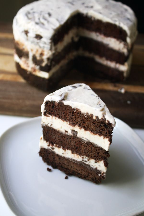 Mint Chocolate Chip Ice Cream Cake | cake! | Pinterest
