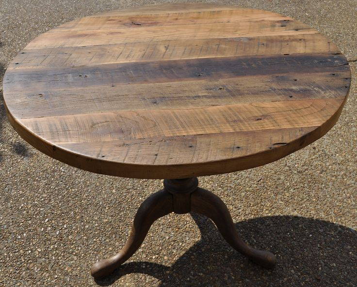 Reclaimed barn wood round table reclaimed upcycled dohler