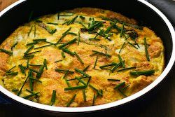 Asparagus and Fresh Mozzarella Frittata with Parmesan and Chives | Re ...