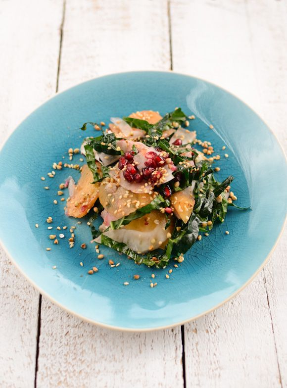 Scandi Home: Fennel and Persimmon Salad with Buckwheat-Sesame Sprinkle