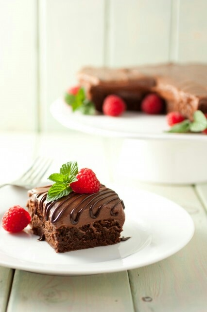 Raspberry truffle Brownies on cookingclassy.com