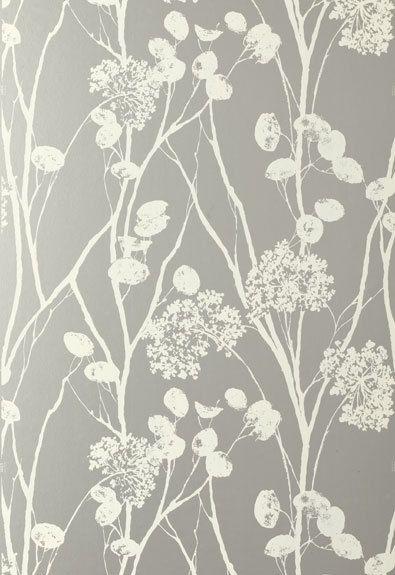 Schumacher moonpennies wallpaper in silver for Cheap plain white wallpaper