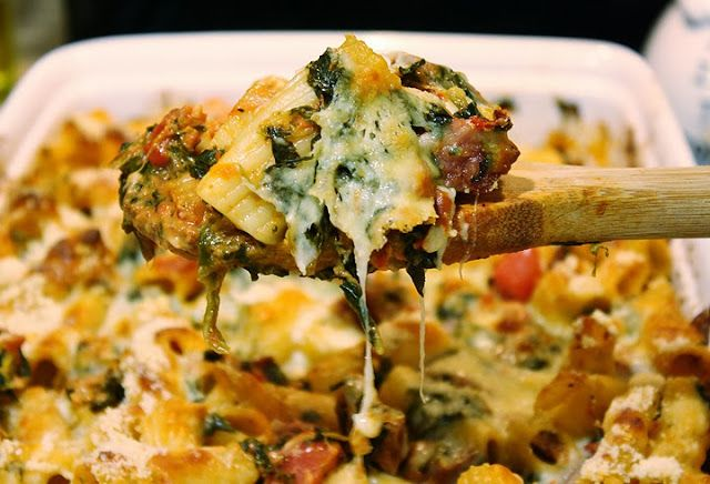Baked Pasta with Chicken Sausage | dinner recipes | Pinterest