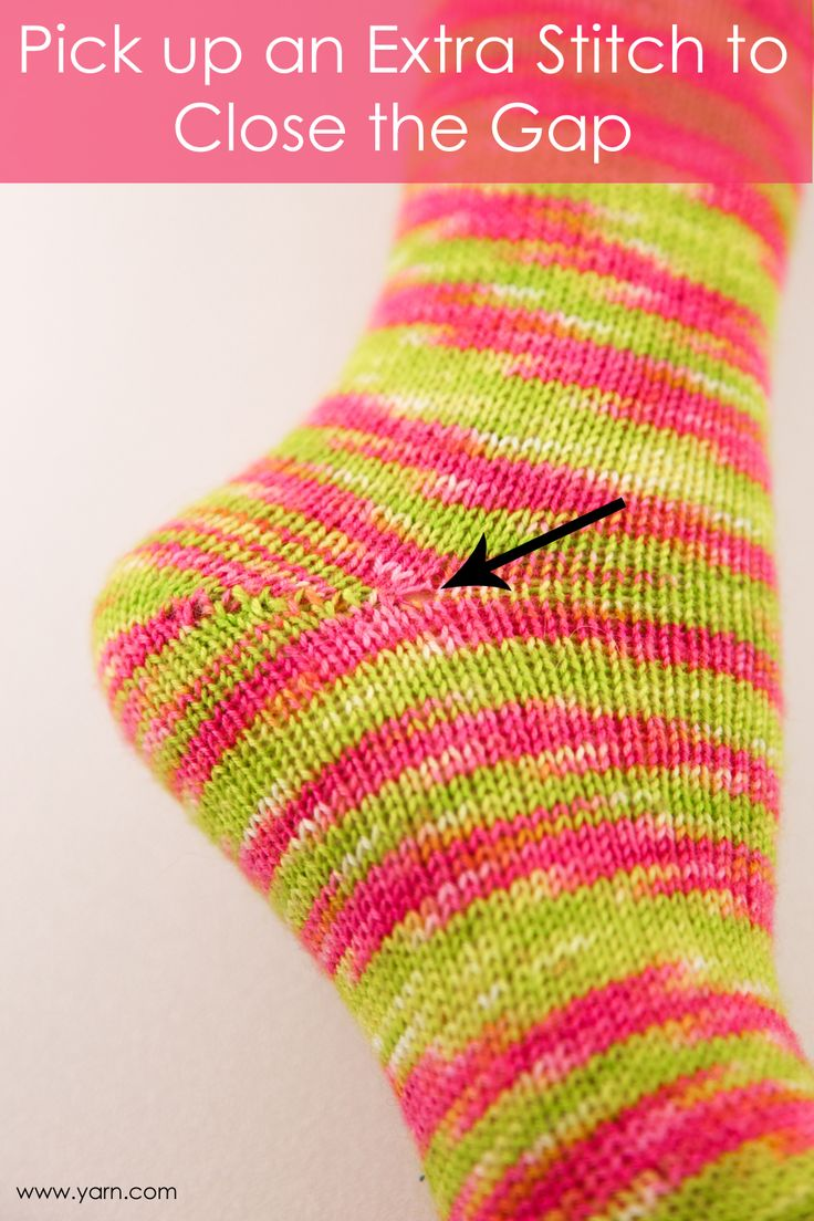 Knitting Ending Up With Extra Stitches : Tuesday s Knitting Tip   Pick Up an Extra Stitch to Close the Gap Knitting ...