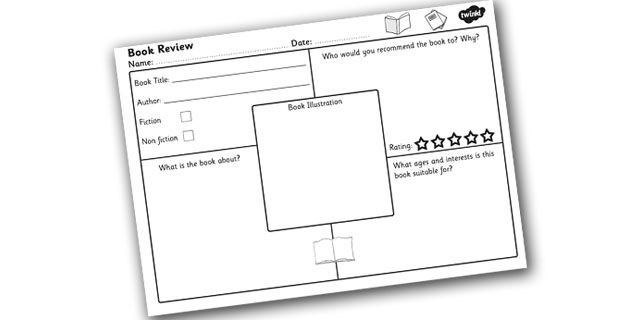 Twinkl Resources >> Book Review Worksheet >> Printable resources for ...