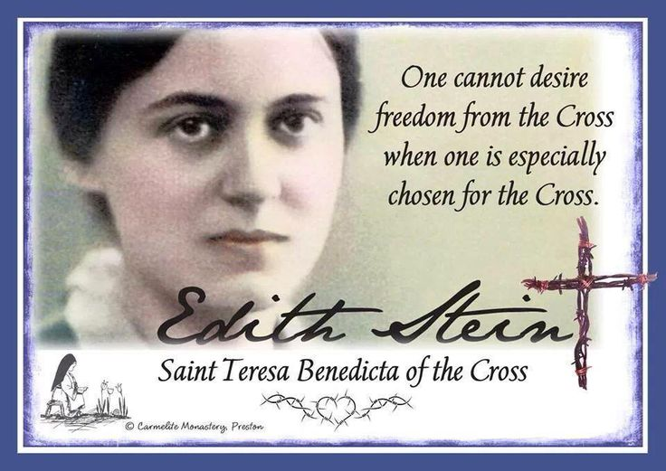 Image result for images of edith stein with quotes