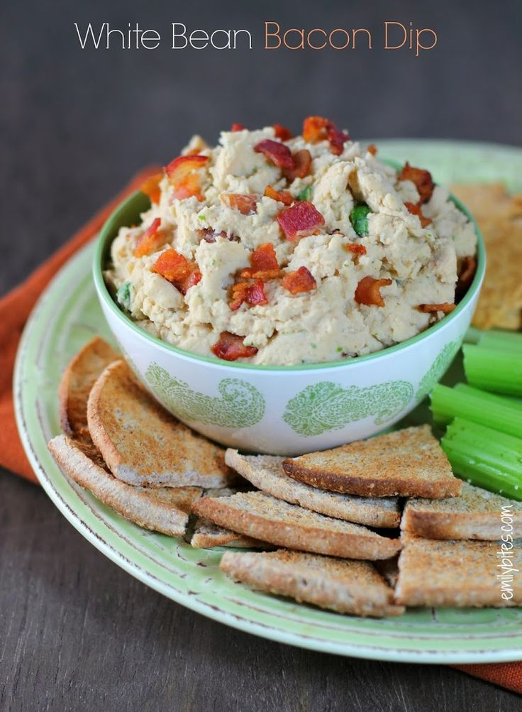 White Bean & Bacon Dip (and exciting news!) » Emily Bites