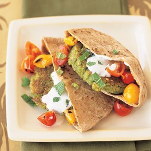 Panfried Falafel with Cumin and Garlic | Delish | Pinterest