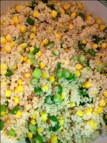 Quinoa Salad with Corn, Lemon and Scallions Excellent! Served this ...