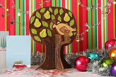 How-To: Partridge in a Pear Tree Gingerbread Sculpture from Not Marthat