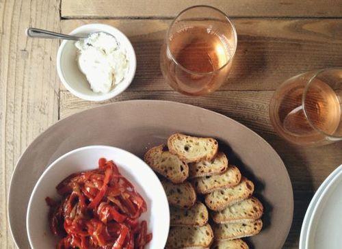 Pepperonata and Goat Cheese Crostini | Entertain | Pinterest