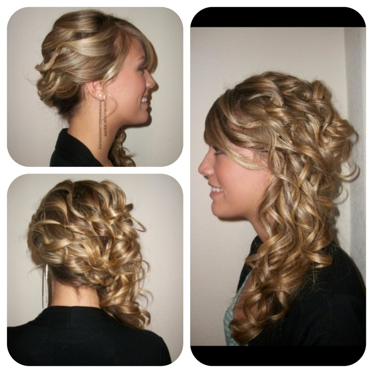 Side Curls Wedding Hair | Make Up And Hair | Pinterest
