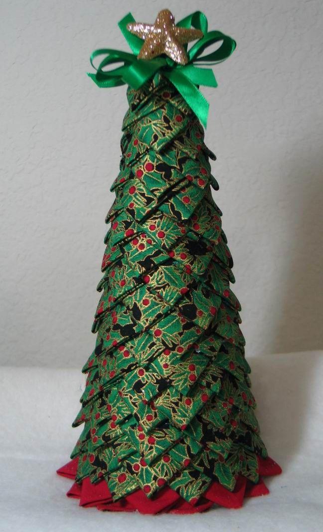 My First Folded Fabric Christmas Tree Christmas Trees Pinterest