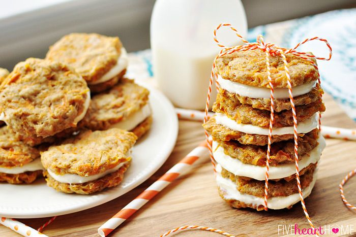 Carrot Cake Sandwich Cookies ~ mini carrot cake whoopie pies filled ...
