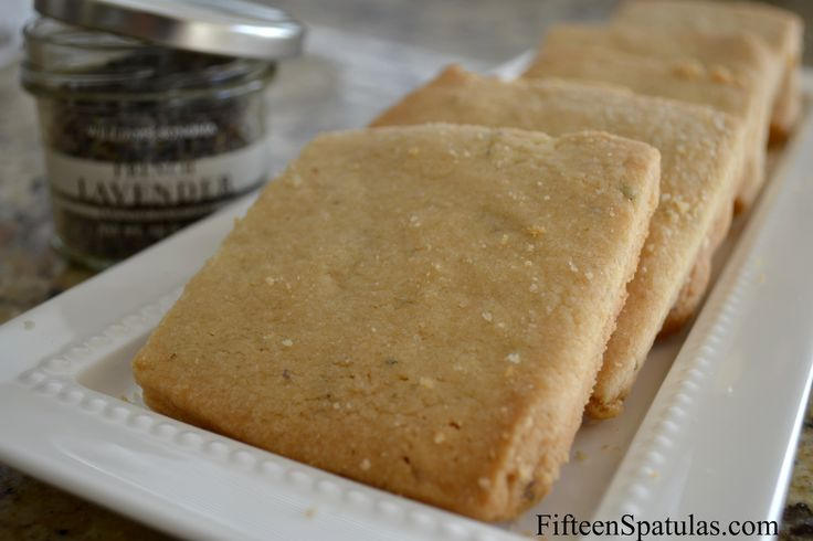 Lavender Shortbread Cookies from -fifteen spatulas this is a great ...