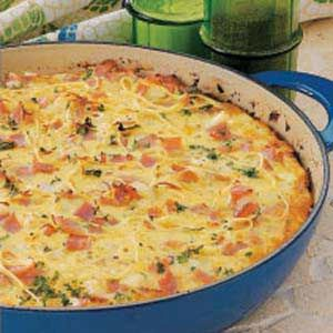 Pasta Frittata Recipe | Taste of Home Recipes