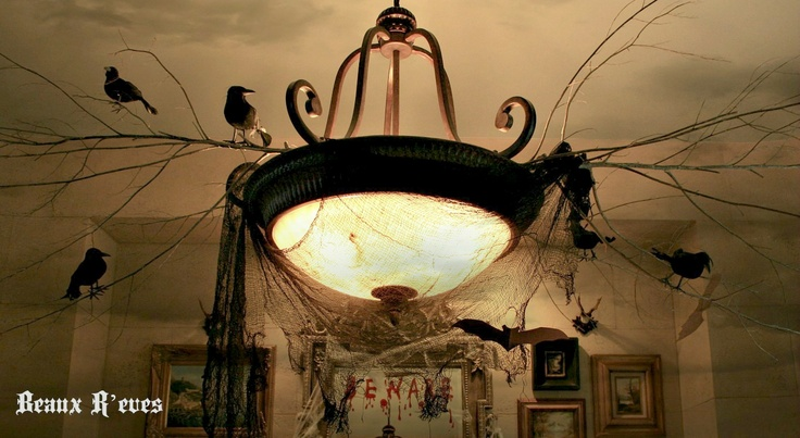 Haunted dining room halloween pinterest for Haunted dining room ideas