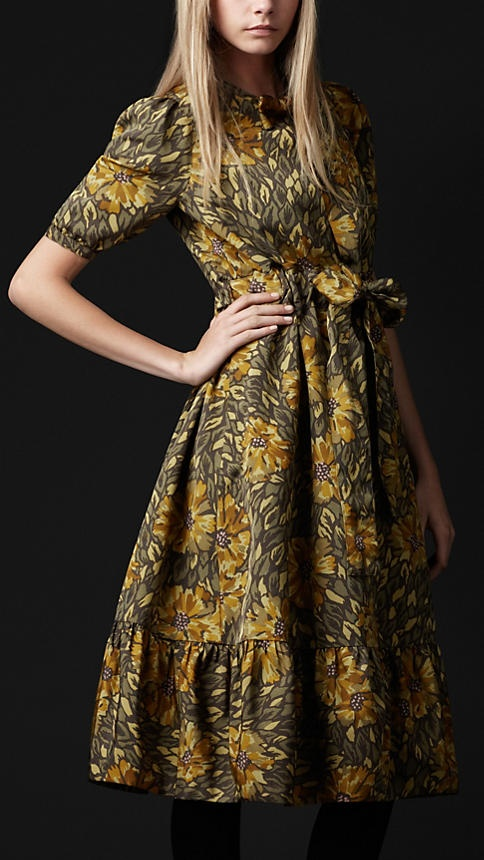 Burberry Prorsum Autumn/Winter 2012 - The Floral Print Ottoman Dress