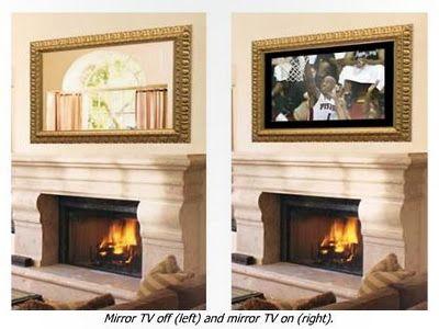 Hidden Tv Above Fireplace For The Home Pinterest