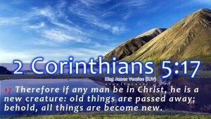 2 Corinthians 5:17 Christian Wallpaper