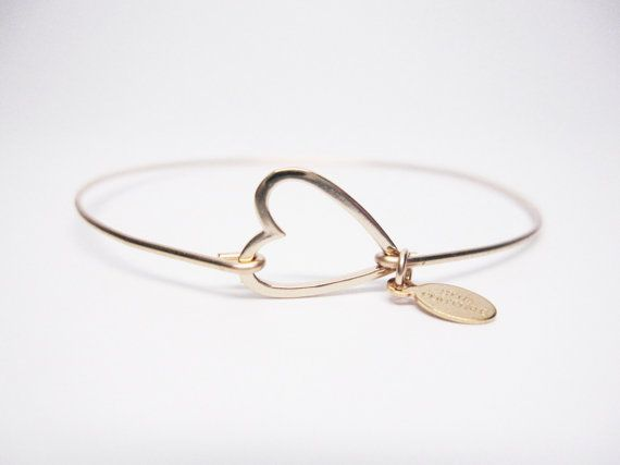 14K Gold Filled Heart Bangle