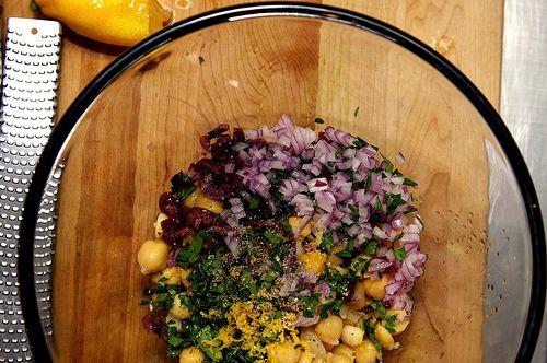 Smitten Kitchen smashed chickpea salad | Get in my belly | Pinterest