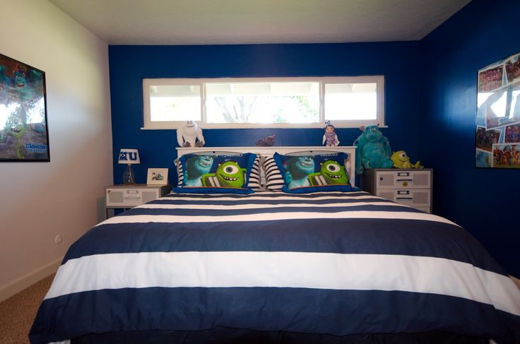 Bedroom With Cal King Bed Mural To Come Pixar Disney Monsters Inc. Monster Inc Bedroom Ideas  Bedrooms Kids Bedroom Ideas Monsters