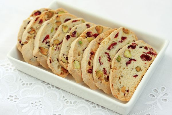 Cranberry and Pistachio Biscotti - this needs butter added to the ...