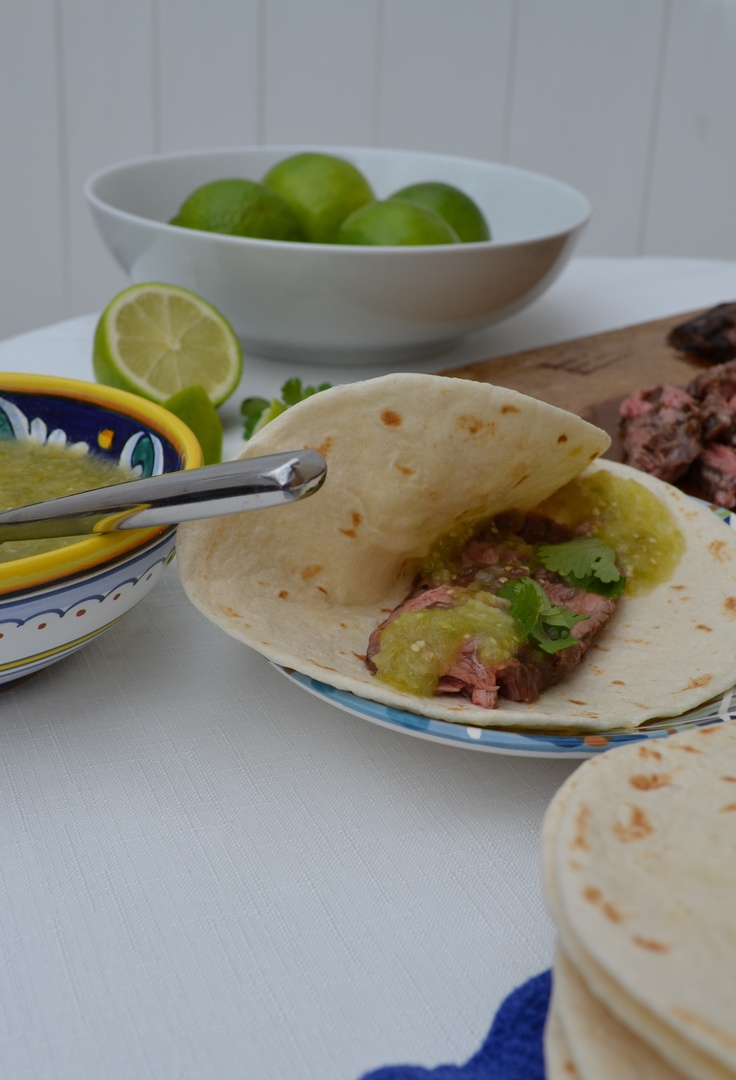 Jalapeno & Lime Marinated Skirt Steak with Tomatillo Sauce (www ...