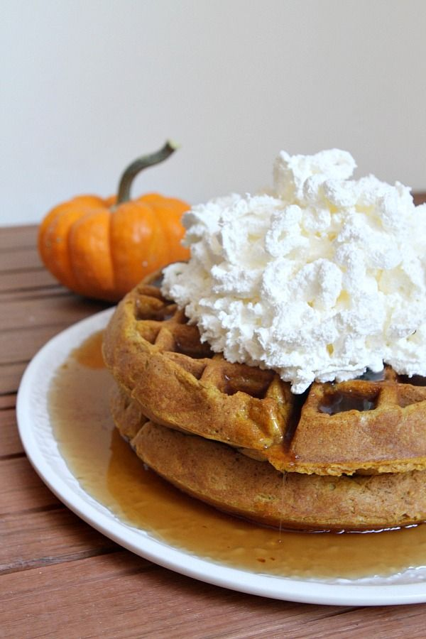 Pumpkin Waffles can be low carb with a few substitutions