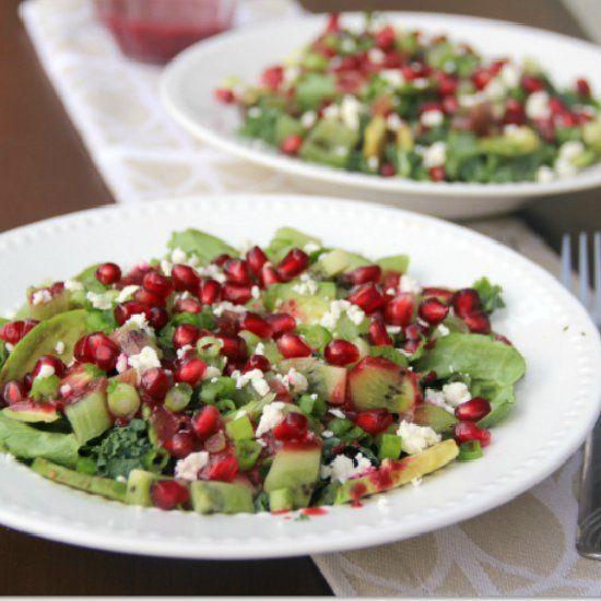 ... of kiwi amp pomegranate seeds amp avocado amp blackberry lime dressing