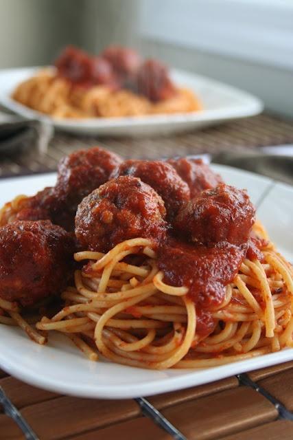 Spicy Meatballs and Spaghetti | Yummy, Yummy In My Tummy. | Pinterest