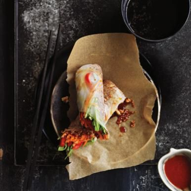 Meatless Monday: Sesame Ginger Quinoa Spring Rolls | Healthy Eats ...